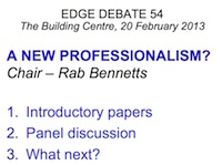 Edge Debate Intro New Professionalism